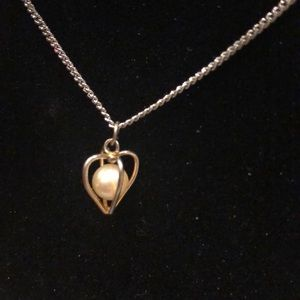 Dainty Gold Pearl Necklace